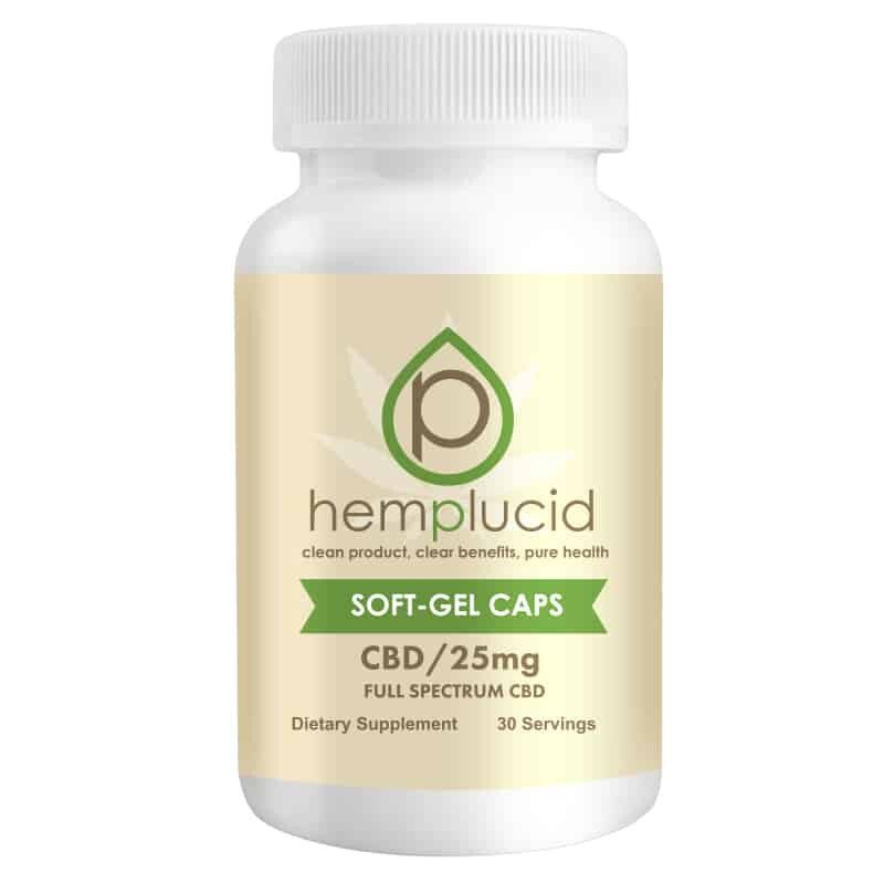 HempLucid CBD Gel Caps 25mg each