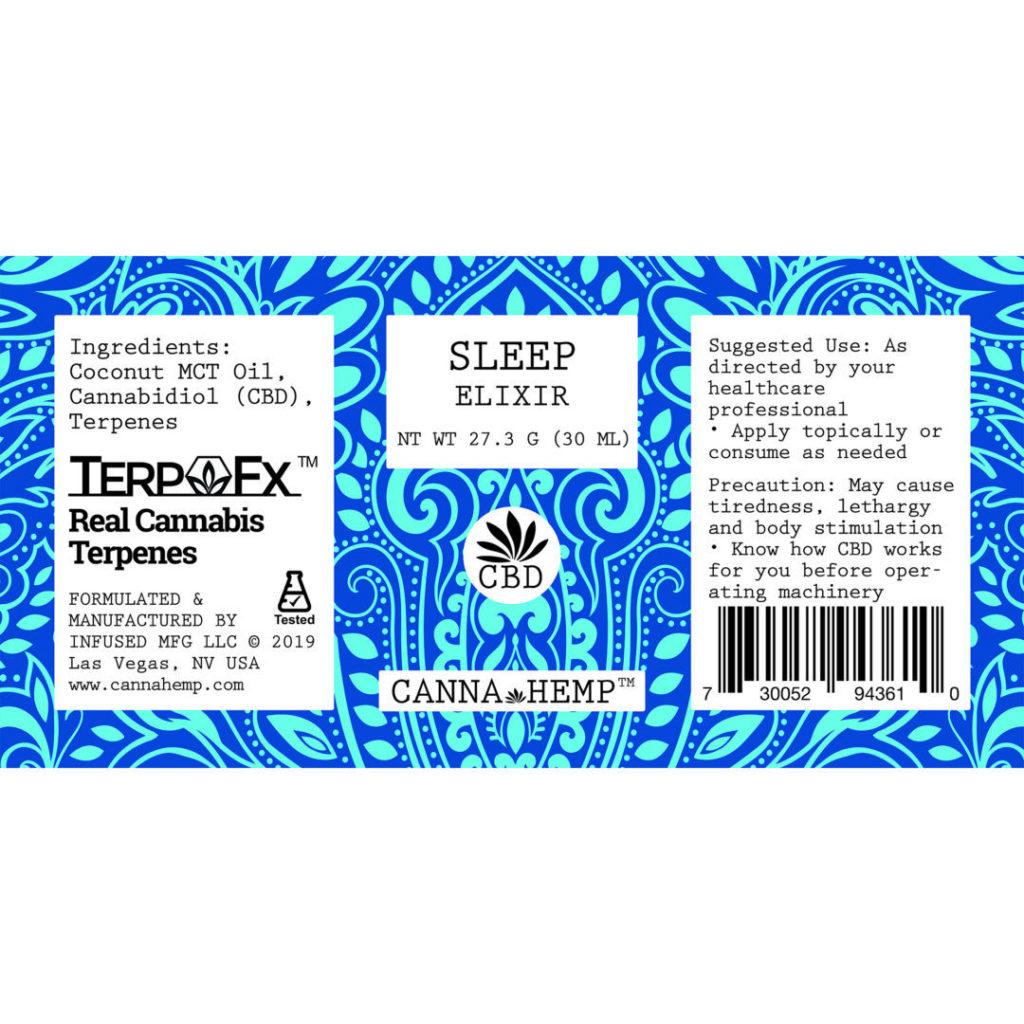 Canna Hemp Sleep Elixir Label
