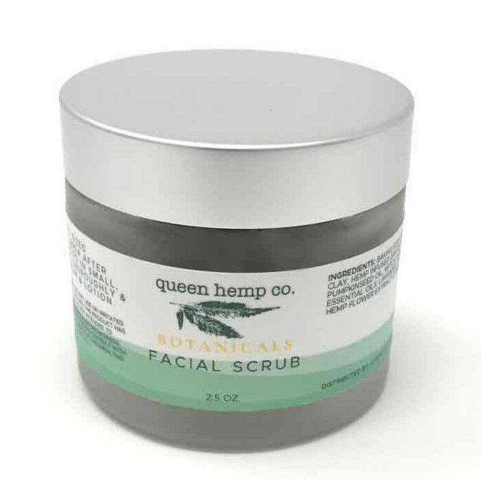 Queen Hemp Botanicals Green Sunrise Facial Scrub