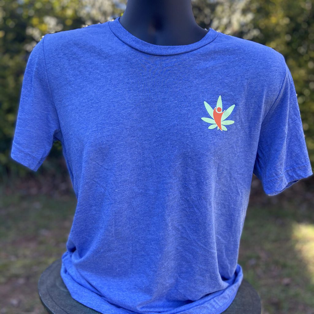 cannabdy branded shirt blue mens front