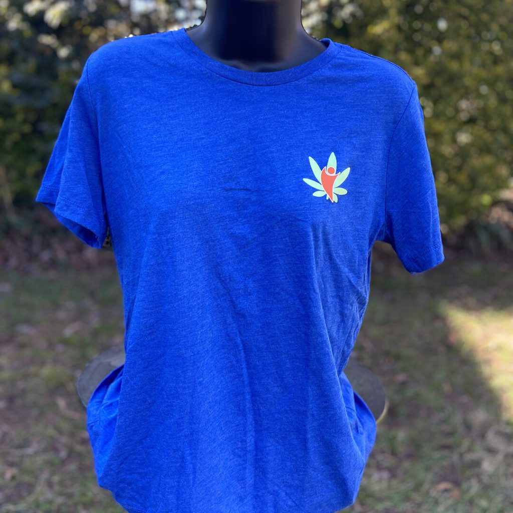 cannabdy branded shirt blue womens front