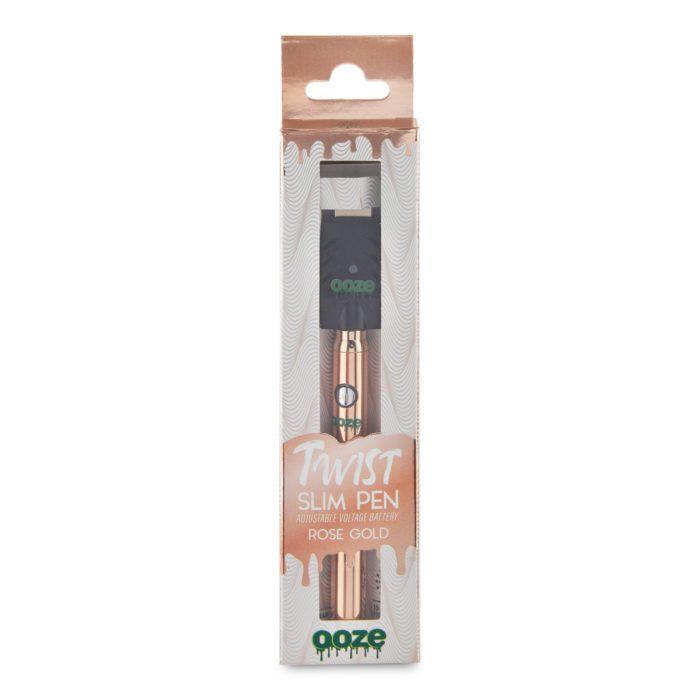 Ooze Slim Pen Twist - Rose Gold Box