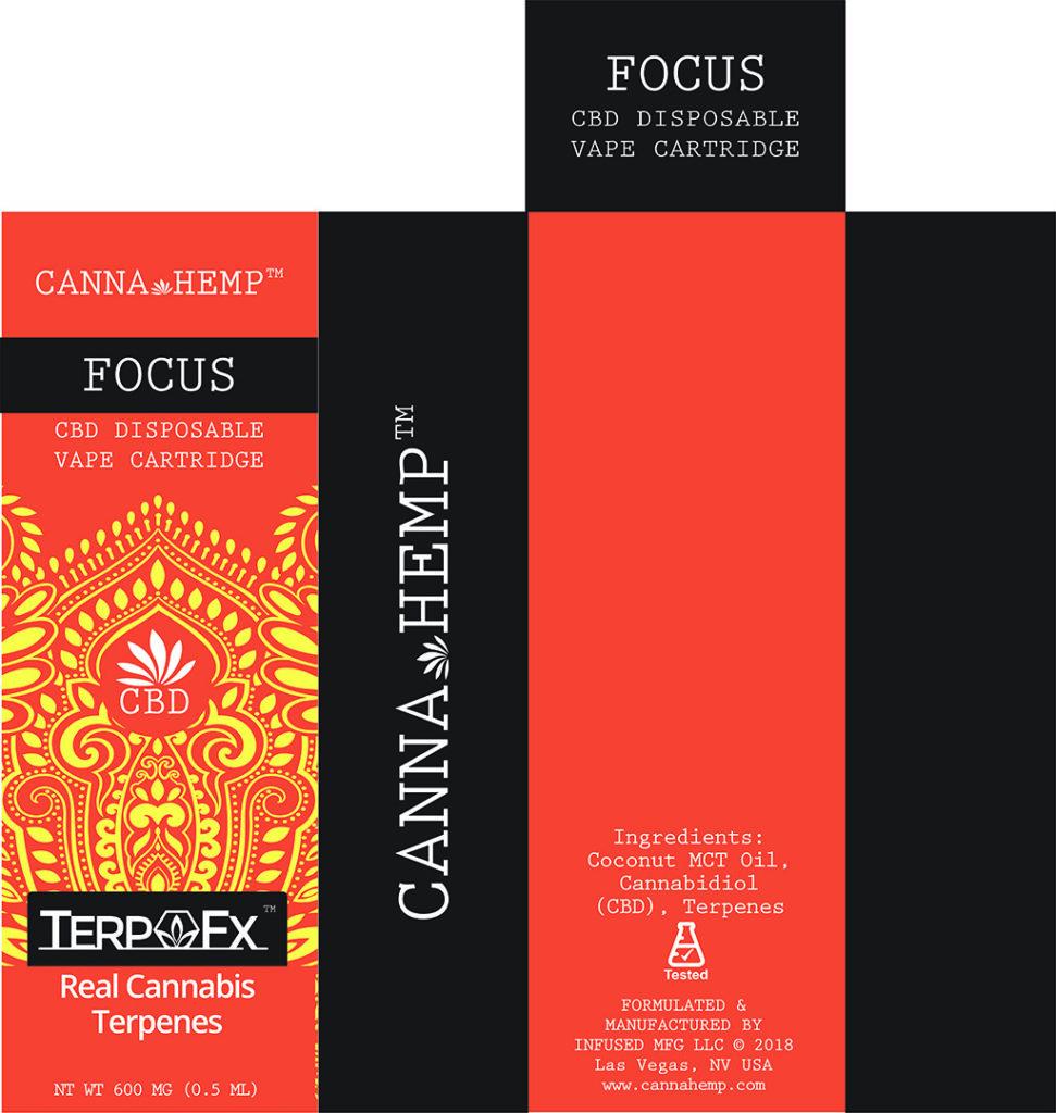 Canna Hemp Focus Vape box