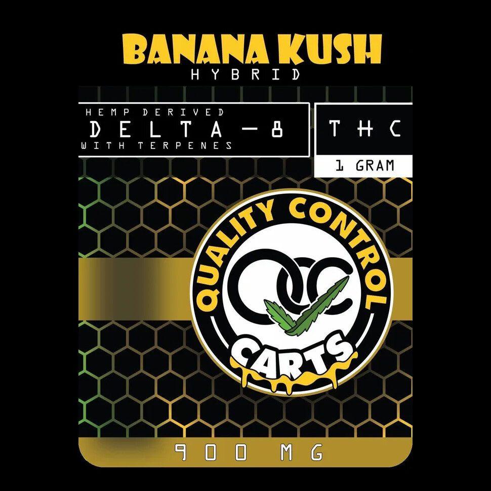 Quality Control Carts Banana Kush Delta-8-THC Vape Cartridge Package Front
