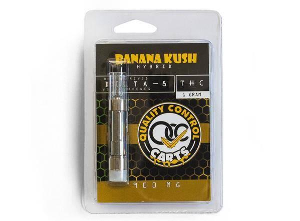 Quality Control Carts Banana Kush Delta-8-THC Vape Cartridge