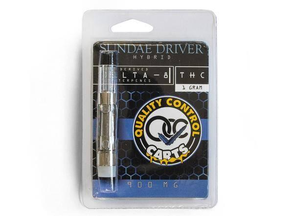 Quality Control Carts Sundae Driver Delta-8-THC Vape Cartridge