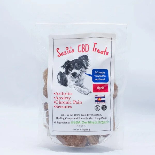 Suzie's CBD Treats 4 mg CBD Hearts Apple Flavor