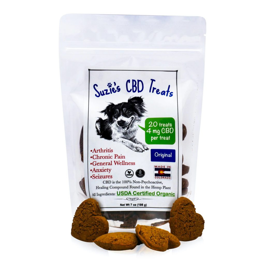 Suzie's CBD Treats 4 mg CBD Hearts Original Flavor