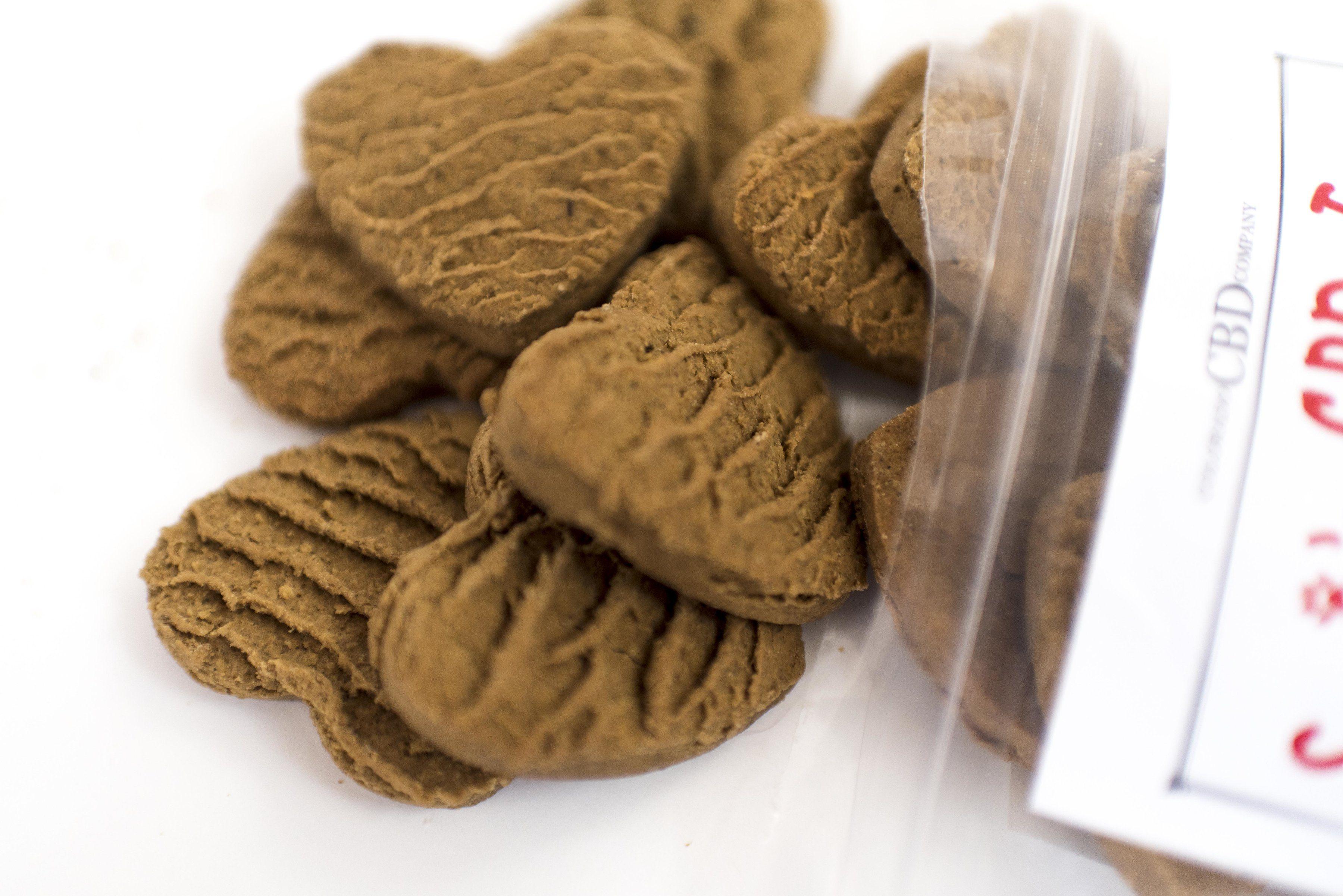 Suzie's CBD Treats 4 mg CBD Hearts product shot - closeup - packaging