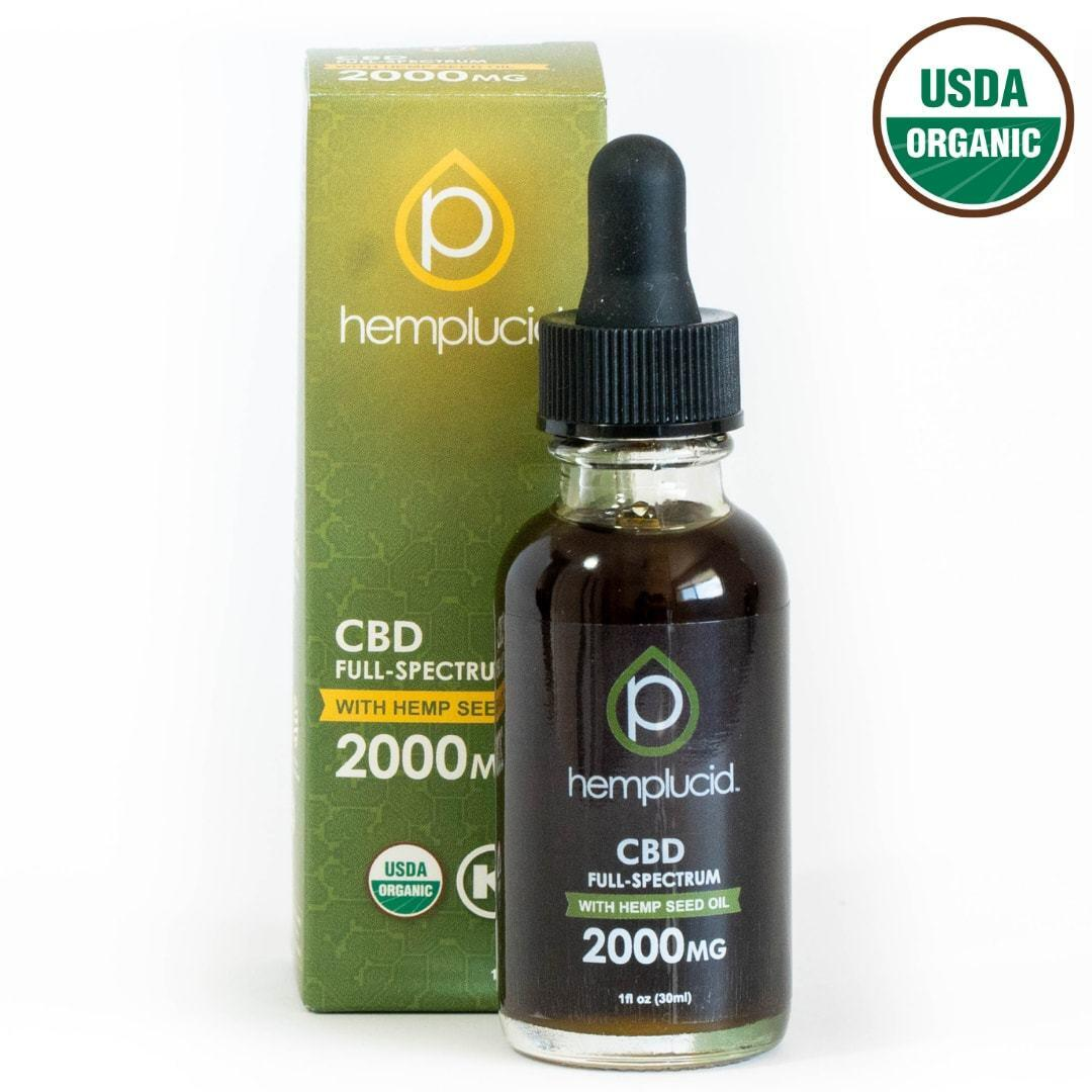 HempLucid Full-Spectrum CBD Tincture in Hemp Seed Oil (2000 mg CBD)