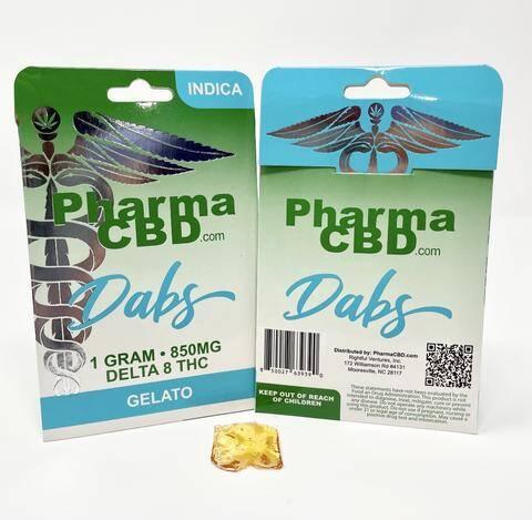 PharmaCBD Delta-8-THC 1 gram Dabs - Gelato