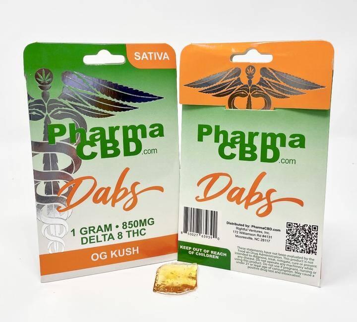 PharmaCBD Delta-8-THC 1 gram Dabs - OG Kush