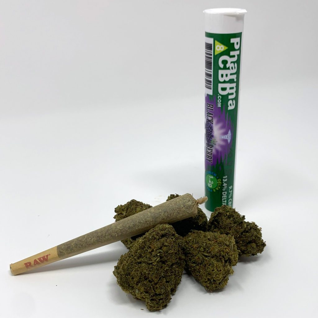 PharmaCBD Delta-8-THC Infused Pre-Roll - Blackberry Kush