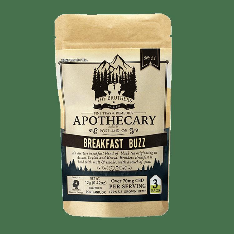 The Brothers Apothecary Breakfast Buzz Hemp CBD Tea - Front