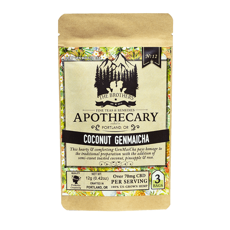 The Brothers Apothecary Coconut Genmaicha Hemp CBD Tea - Front
