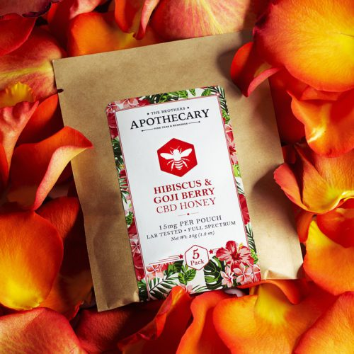 The Brothers Apothecary Highbiscus & Goji Berry CBD Honey - 5 Pack (75 mg Total CBD) - Product View