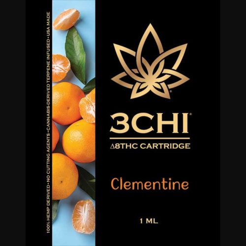 3Chi Clementine Delta-8-THC Vape Cartridge with Cannabis Derived Terpenes