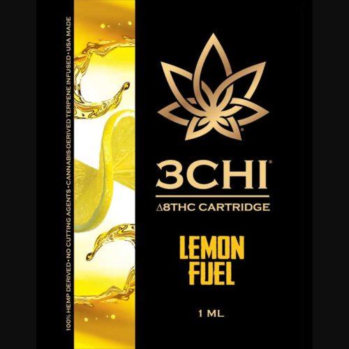 3Chi Lemon Fuel Delta-8-THC Vape Cartridge with Cannabis Derived Terpenes