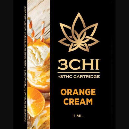 3Chi Orange Cream Delta-8-THC Vape Cartridge with Cannabis Derived Terpenes