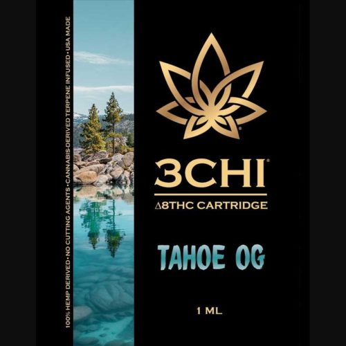 3Chi Tahoe OG Delta-8-THC Vape Cartridge with Cannabis Derived Terpenes